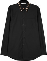Givenchy Black Stud-embellished Cotton Shirt