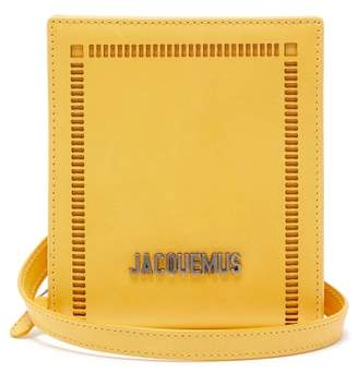 Jacquemus Gadjo Cut Out Leather Necklace Bag - Mens - Yellow