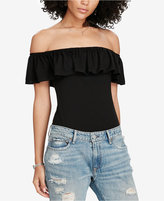 Denim & Supply Ralph Lauren Ruffled Off-The-Shoulder Bodysuit
