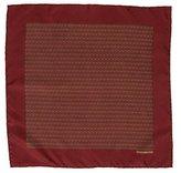 Hermes Horseshoe Print Pocket Square