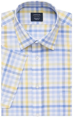 Arrow Men's Slim-Fit Stretch Short-Sleeved Dress Shirt