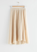 Thumbnail for your product : And other stories Diagonal Pleats Midi Skirt