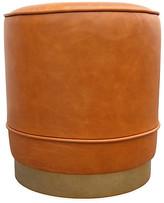 Kim Salmela Piper Stool - Camel Leather frame, brass; upholstery, camel