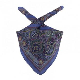 Saint Laurent Purple Cotton Scarves