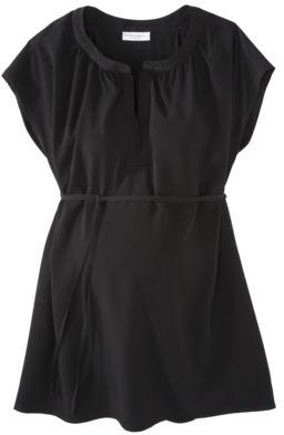 Liz Lange for Target® Maternity Short-Sleeve Fashion Top - Black