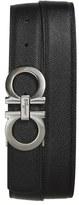 Salvatore Ferragamo Men's Reversible Double Gancini Calfskin Leather Belt