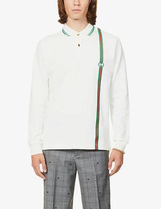 Gucci Striped cotton-jersey polo shirt