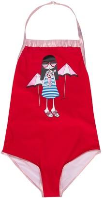 Little Marc Jacobs TEEN beach-print swimsuit