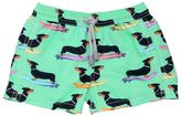 MC2 Saint Barth Dachshund Printed Nylon Swim Shorts