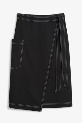 Monki Utility midi skirt