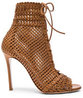 Gianvito Rossi Woven Leather Booties