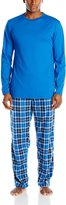 Hanes Men's Big Tag Less 2-Piece Micro-Fleece Sleep Set