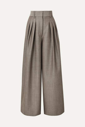 Marc Jacobs Runway Wool And Mohair-blend Wide Leg Pants - Gray