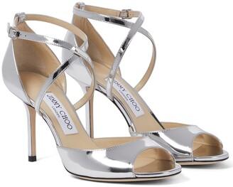 Jimmy Choo Emsy 85 metallic leather sandals