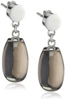 Xen Women's Stud Earrings Stainless Steel and Brown Smoky Quartz 411883G0