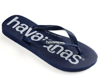 Havaianas Logomania Flip Flop - Navy