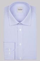 Hardy Amies Slim Fit Sky Single Cuff Gingham Shirt