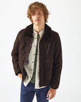 Shearling Collar Suede Bomber