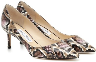 Jimmy Choo Romy 60 snake-effect pumps