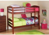 Easy-to-Convert to Twin Bed Practical Space Saver Wood Bunk Bed, Multiple Finishes with Sturdy Frames, Walnut