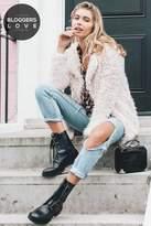 Girls On Film Cream Fur Coat