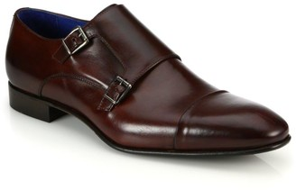 Saks Fifth Avenue COLLECTION Double Monk-Strap Leather Shoes