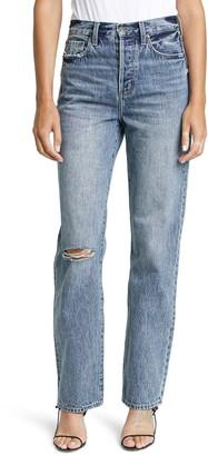 Pistola Denim Cassie Ripped High Waist Bootcut Jeans