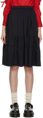 COMME DES GARÇONS GIRL Black Tiered Ruffle Skirt