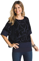 Chico's Tina Velvet Two-In-One Top