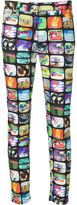 Jeremy Scott TV print jeggings - women - Cotton/Spandex/Elastane - 42