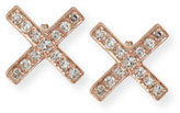 Ef Collection DIAMOND X STUD EARRING PAIR