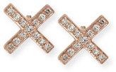 Ef Collection Diamond X Stud Earrings