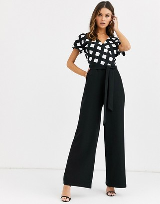 Paper Dolls check jumpsuit