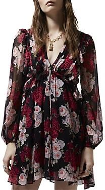 The Kooples Rapsberry Shades Floral Print Dress