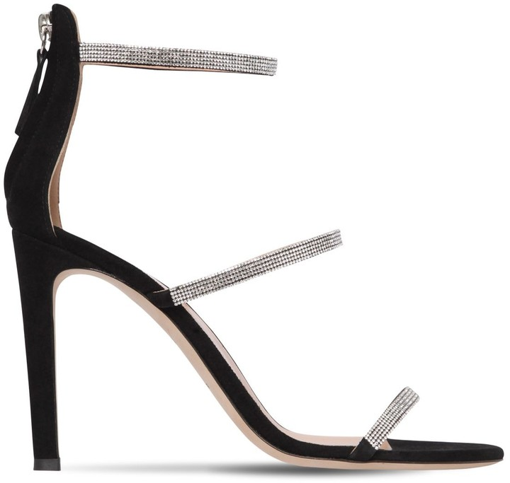 Thumbnail for your product : Giuseppe Zanotti 105mm Embellished Suede Sandals