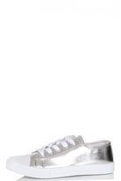 Quiz Silver Metallic PU Trainer