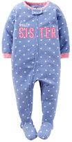 Carter's Baby Girl Embroidered Applique Footed Pajamas