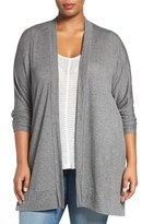 Sejour 'Bess' French Terry Cardigan (Plus Size)
