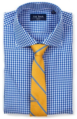 The Tie Bar Classic Blue Gingham Non-Iron Shirt