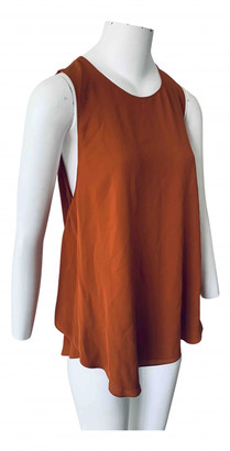 Theory Orange Silk Tops