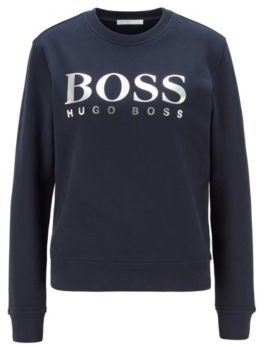 HUGO BOSS French-terry sweatshirt with mixed-print logo