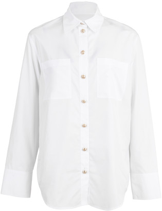 Balmain Oversized White Button Down Shirt