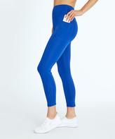 Bally Total Fitness Women's Leggings SURF - Surf the Web Blue 27'' Pocket High-Rise Ankle Leggings - Women