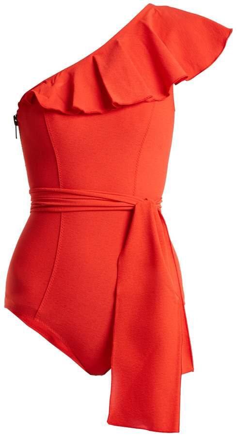 Lisa Marie Fernandez Arden ruffle-trimmed tie-waist swimsuit