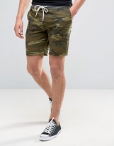 Pull&Bear Jersey Shorts In Camo