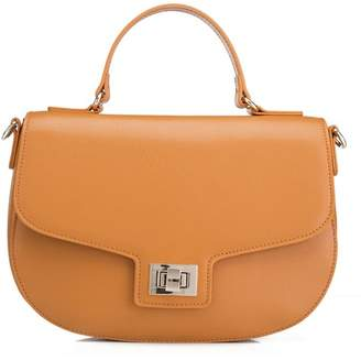 Laurèl Vicenzo Leather Leather Satchel Crossbody