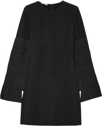 Stella McCartney Tiered Fringe-trimmed Cady Mini Dress