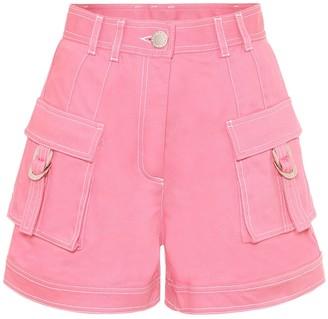 Balmain High-rise denim shorts