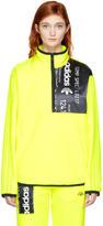 adidas Originals by Alexander Wang Yellow Polar Fleece Half-Zip Jacket