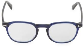 Tom Ford 50MM Round Blue Block Filter Optical Glasses